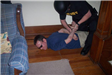 Officers participate in arrest training