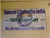 Balanced and Restorative Justive 10th Anniversary banner