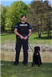 Department canine Gibbs with officer
