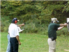 People participate in firearms training
