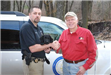 Department canine Gibby donated as a puppy by John Campbell