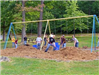 People build a playground at Hasson Park