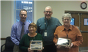 Susie Goss and Linda Long receive retirement awards