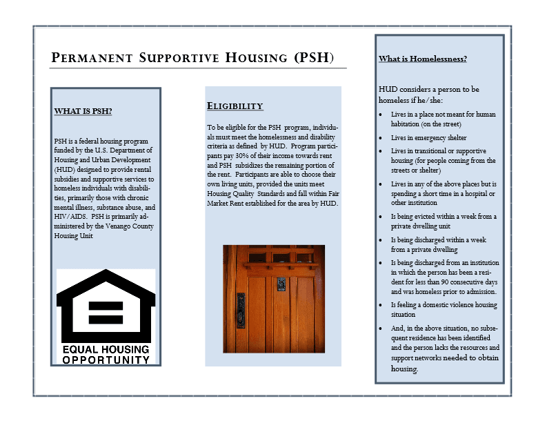 CoC Permanent Supportive Housing Program Brochure Page 2